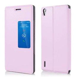 Huawei P7 View Cover Licht Roze