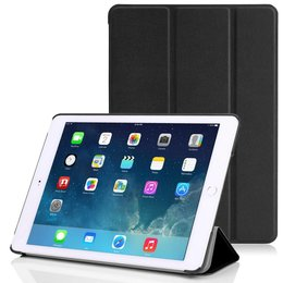 Apple iPad Air (iPad 5) Tri Fold Leather Case Zwart