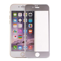 iPhone 6 / 6S Zilver 3D Titanium Alloy Tempered Glass