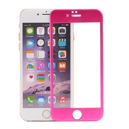iPhone 6 / 6S Roze 3D Titanium Alloy Tempered Glass