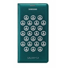 Samsung Origineel Galaxy S5 / S5 Plus / S5 Neo Flip Wallet Moschino Peace Groen