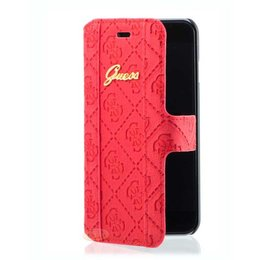 GUESS iPhone 6 / 6S Book Case Hoesje Rood