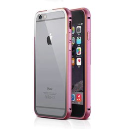 Apple iPhone 6 / 6S Metalen 2 in 1 Aluminium Bumper Roze