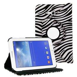 Samsung Galaxy Tab 3 7.0 LITE Rotating Case Zebra Print