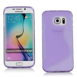 S-Line TPU Cover Samsung Galaxy S6 EDGE Paars