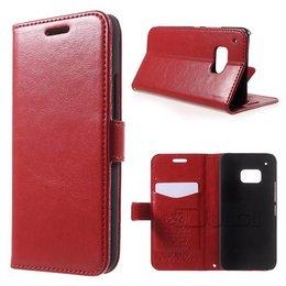 KDS HTC One M9 Portemonnee Hoesje Rood