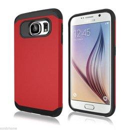 Hybrid Protective Case voor de Samsung Galaxy S6 Rood