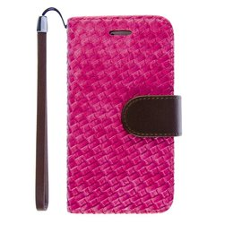 iPhone 6 / 6S Wallet Case Hoesje Woven Roze
