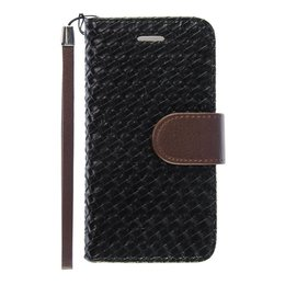 iPhone 6 / 6S Wallet Case Hoesje Woven Zwart