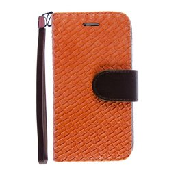 iPhone 6 / 6S Wallet Case Hoesje Woven Oranje