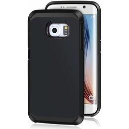 Hybrid Protective Case voor de Samsung Galaxy S6 EDGE Zwart