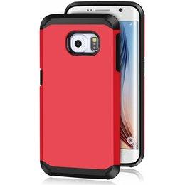 Hybrid Protective Case voor de Samsung Galaxy S6 EDGE Rood