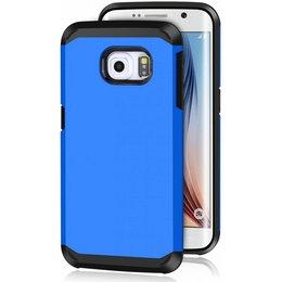 Hybrid Protective Case voor de Samsung Galaxy S6 EDGE Blauw
