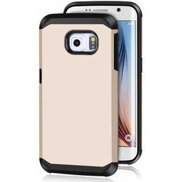 Hybrid Protective Case voor de Samsung Galaxy S6 EDGE Goud
