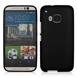 Matte TPU Back Cover HTC One M9 Zwart