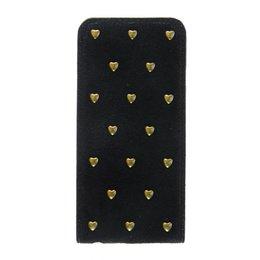 Apple iPhone 6 / 6S Hoesje met Gouden Studs Zwart