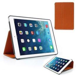 Apple iPad Air (iPad 5) Flip Folio Canvas Case Beschermhoes - Oranje