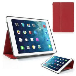Apple iPad Air (iPad 5) Flip Folio Canvas Case Beschermhoes - Rood