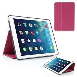 Apple iPad Air (iPad 5) Flip Folio Canvas Case Beschermhoes - Roze