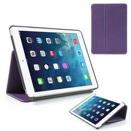 Apple iPad Air (iPad 5) Flip Folio Canvas Case Beschermhoes - Paars