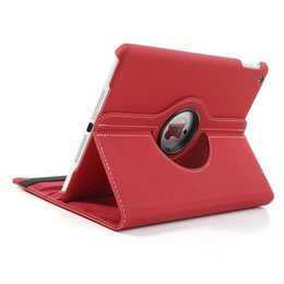 Apple iPad Air (iPad 5) 360 Rotating Case Stof Textuur Rood
