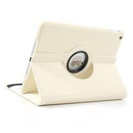 Apple iPad Air (iPad 5) 360 Rotating Case Stof Textuur Wit