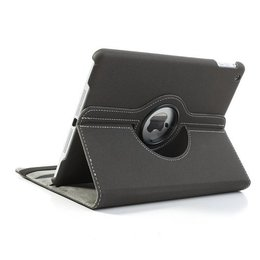Apple iPad Air (iPad 5) 360 Rotating Case Stof Textuur Grijs