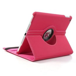 Apple iPad Air (iPad 5) 360 Rotating Case Stof Textuur Roze