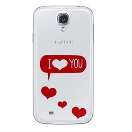Samsung Origineel Galaxy S4 Flip Cover i love You
