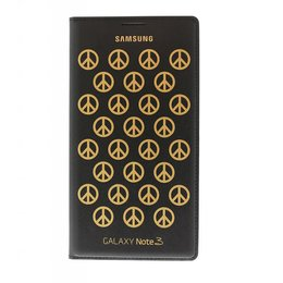 Samsung Origineel Galaxy Note 3 Flip Case Moschino Peace Zwart
