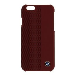 BMW iPhone 6 / 6S Lederen Hardcase Rood