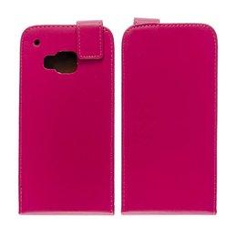 HTC One M9 Verticaal Flip Portemonnee Case Roze