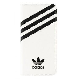 Adidas Originals Booklet Case voor Galaxy S6 Wit / Zwart