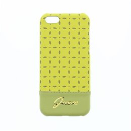 GUESS iPhone 5C Gianina Collection Back Cover Case Geel