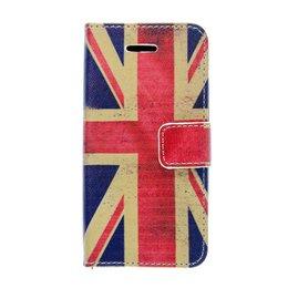 Apple iPhone 5C Book Case Portemonnee Hoesje UK Vlag