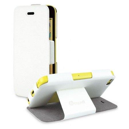 Muvit Wit iFlip Folio Book Case Hoesje voor Apple iPhone 5C