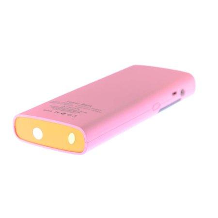 Roze Powerbank Externe batterij 13000mAh met Verlichte Display