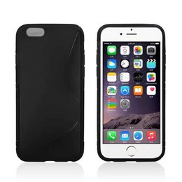 Apple iPhone 6 / 6S 4.7 INCH TPU Case S-Line Zwart