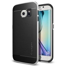 Spigen Neo Hybrid Series Case voor Samsung Galaxy S6 EDGE - Silver