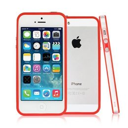 iPhone SE / 5 / 5S Bumper Case Transparant Rood
