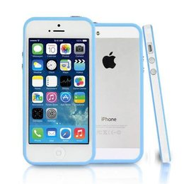 iPhone SE / 5 / 5S Bumper Case Transparant Blauw