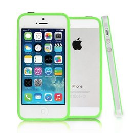iPhone SE / 5 / 5S Bumper Case Transparant Groen