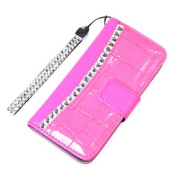 Cool Case iPhone 5 / 5S Crocodile Look Srass-Accenten Roze