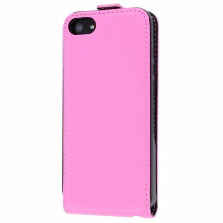 Muvit Slim Fit Flip Cover Case Voor Apple iPhone 5 / 5S / SE - Roze