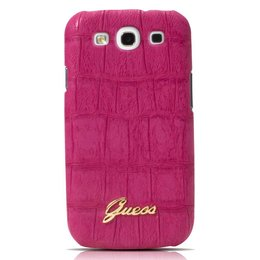 GUESS Galaxy S3 Back Case Croco Roze