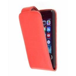 iPhone 5 / 5S / SE Faux Flip Case Beschermhoes Rood