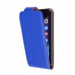 iPhone 5 / 5S / SE Faux Flip Case Beschermhoes Blauw