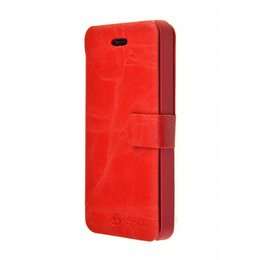 iPhone 5 / 5S / SE 2 in 1 Magnetische Book Cover Rood