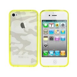 Colorfone iPhone SE / 5 / 5S Camouflage TPU Bumper Case Geel