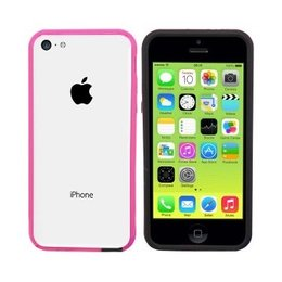 Colorfone iPhone SE / 5 / 5S TPU Bumper Case Roze / Zwart